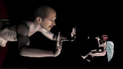 Autoritratto con Trilli (Poser) 3D