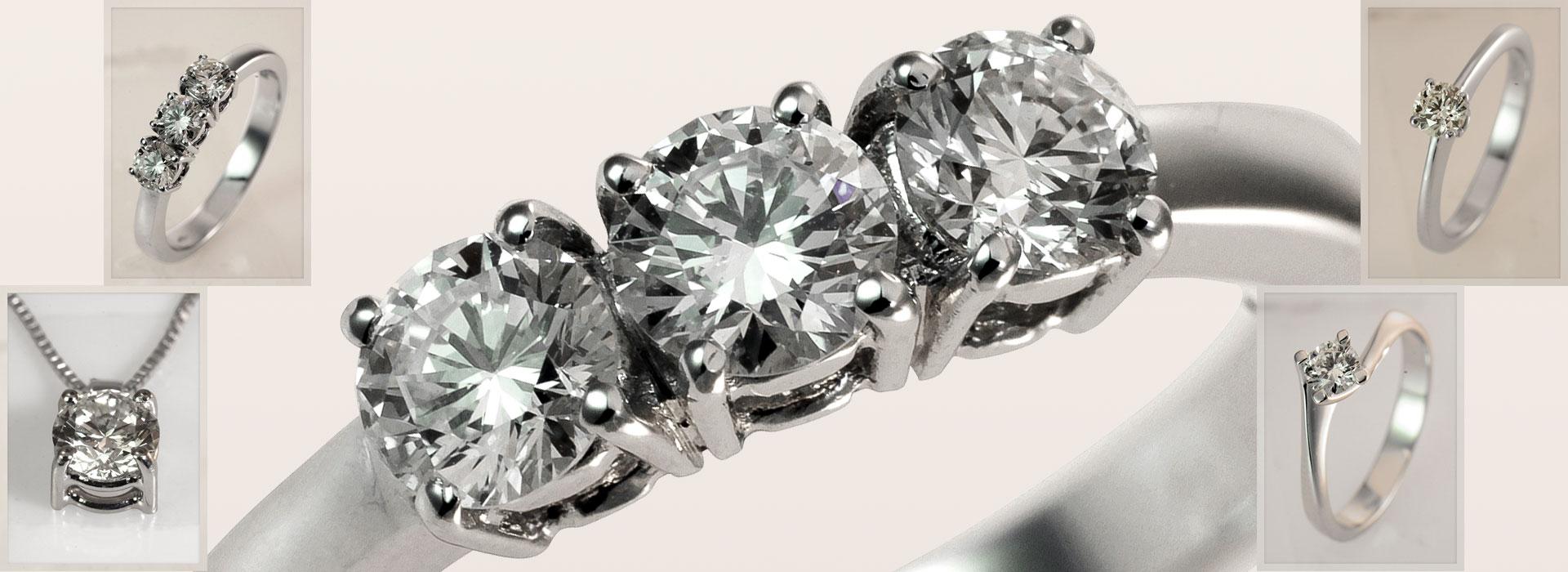 Fotografia prodotti / elaborazione fotografica - gioielli con diamanti