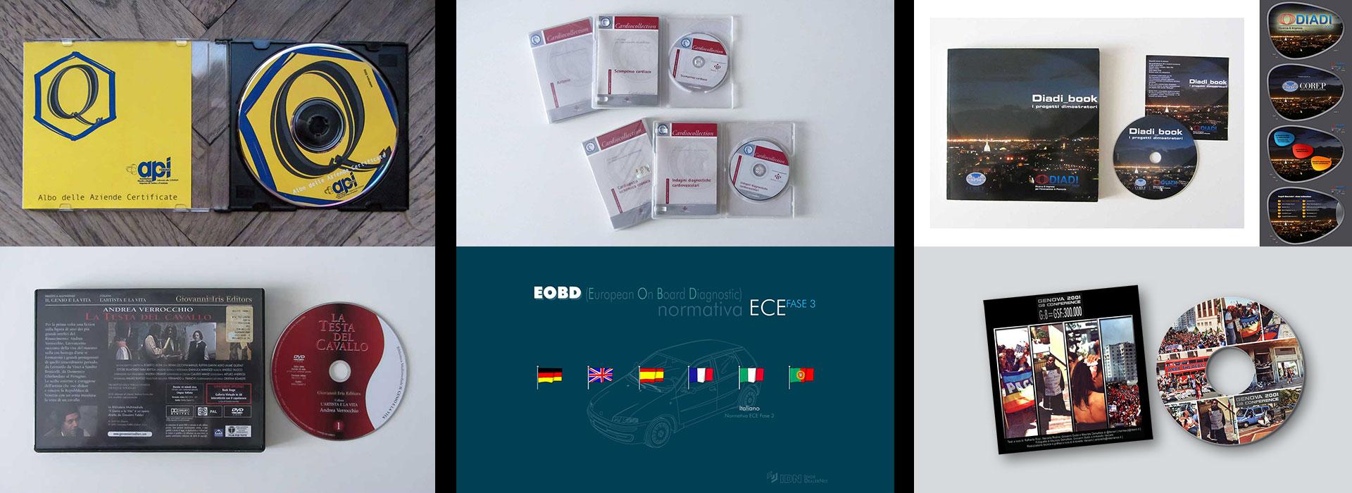 immagini di CD-ROM e DVD multimediali realizzati da Resonance - Venaria, Torino